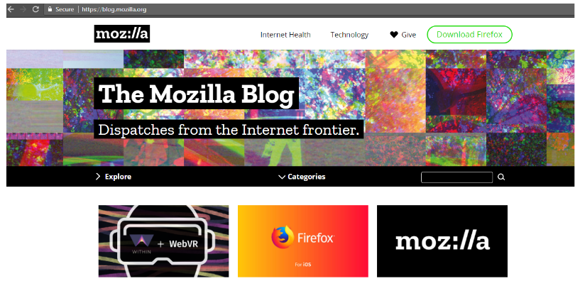 Mozilla Blog on WordPress