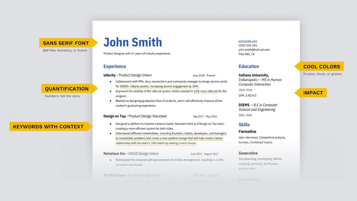 ux design resume