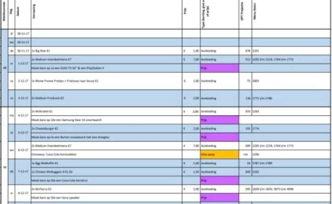 Mcdonalds Kalender Kalender 2020