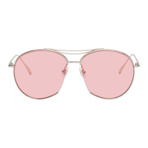 Gentle Monster Silver and Pink Jumping Jack Sunglasses