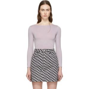 Alexachung Purple Long Sleeve Bodysuit