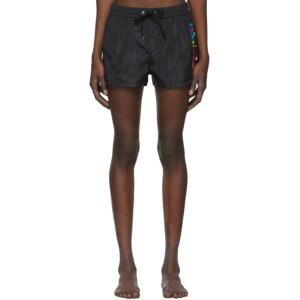Diesel Black Sandy Rainbow Swim Shorts