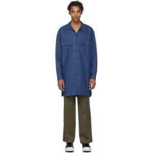House of the Very Islands Blue Long Buttoned Profit Shirt