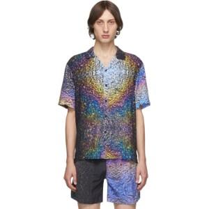 Everest Isles SSENSE Exclusive Multicolor Asphalt Print Beach Shirt