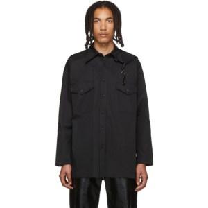 Sankuanz Black Capelet Shirt