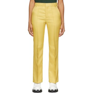 Plan C Yellow Straight Trousers