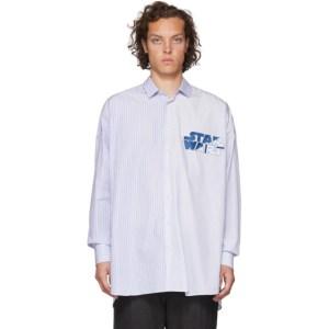 Etro Blue Star Wars Edition Striped Shirt