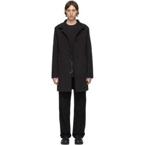 49Winters Black One Layer Mac Coat