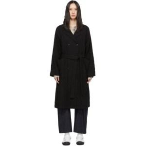 Raquel Allegra Black Raglan Trench Coat