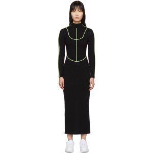 Kirin Black Knit Piping Dress