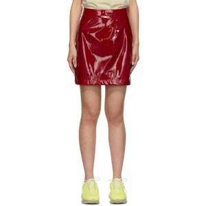 Kirin Red Latex Miniskirt