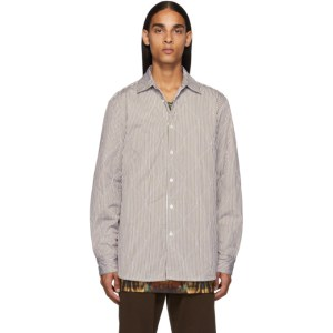 Dries Van Noten Brown Quilted Military Shirt