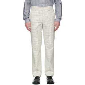 Sunnei Beige Patches Straight Trousers