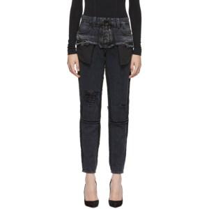 Unravel Black Double Layer Boysk Jeans