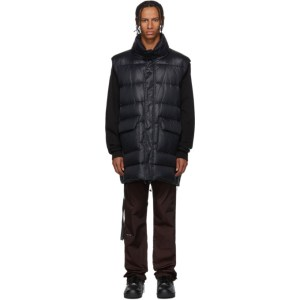 Unravel Black Nylon Shiny Open Back Vest