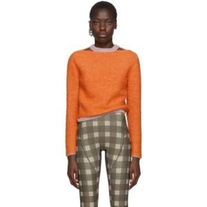 Eckhaus Latta Orange Clavicle Sweater