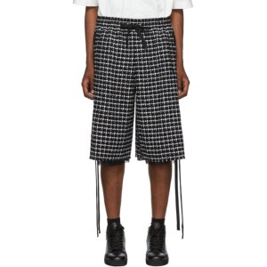 Faith Connexion Black and White Tweed PDP Shorts