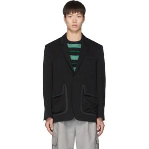 Name. Black Wool Tailored Blazer