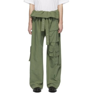 St-Henri Green Utility Wrap Cargo Pants