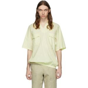 St-Henri Yellow Sky Collared Short Sleeve Shirt