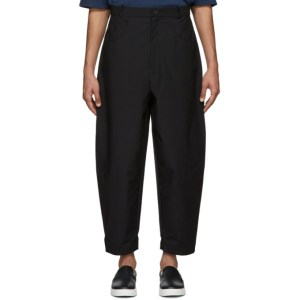 House of the Very Islands Black Oil Pump Trousers