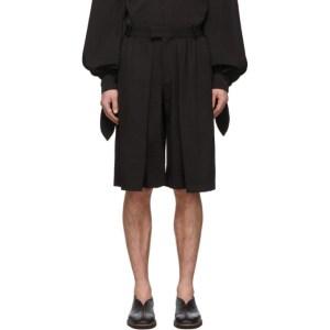 Palomo Spain Black Bermuda Shorts