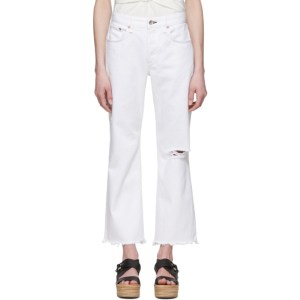 rag and bone White Rosa Boyfriend Cropped Jeans