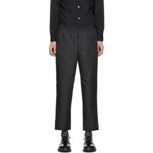 Comme des Garcons Homme Deux Black Herringbone Trousers