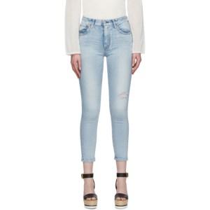 Moussy Vintage Blue Hillrose High-Waisted Skinny Jeans