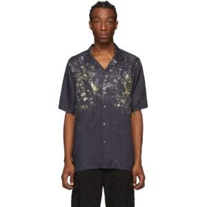 Ksubi Navy Acid Panther Short Sleeve Shirt