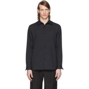 Tibi SSENSE Exclusive Black Chalky Drape Shirt