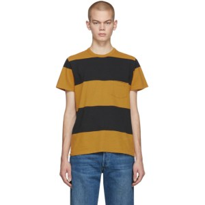 Levis Vintage Clothing Yellow and Black Stripe 1960s Casual T-Shirt