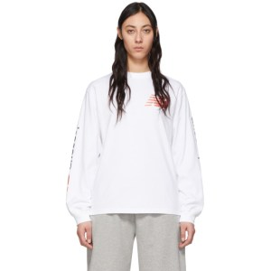 Aries White New Balance Edition Long Sleeve T-Shirt