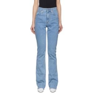 Helmut Lang Blue Femme Hi Bootcut Jeans