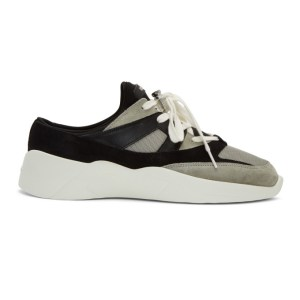 Essentials Black and Grey Backless Sneakers