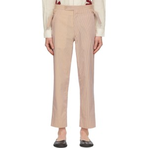 Bode Orange and Blue Stripe Pajama Trousers