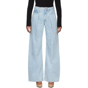 Goldsign Blue The Wide Leg Jeans