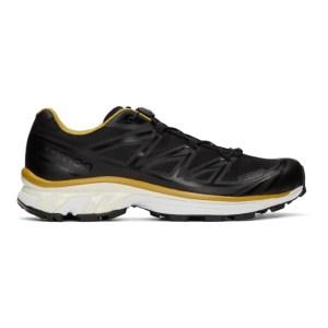 Fumito Ganryu Black and Yellow Salomon Edition XT-6 Trekking Sneakers
