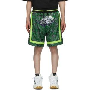 Sankuanz Reversible Black and Green adidas Originals Edition Basketball Shorts