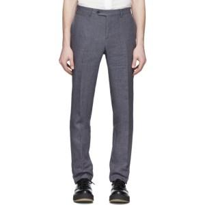 Eidos Grey Linen Slim Suit Trousers