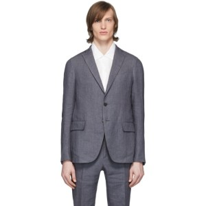 Eidos Grey Linen Blazer