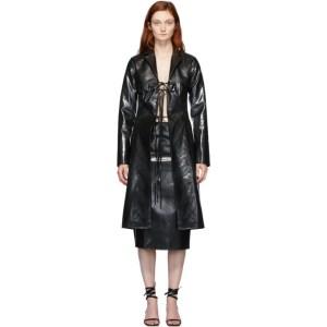 Supriya Lele Black Rubberized Bra Coat