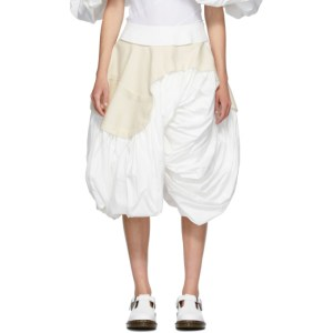 Comme des Garcons White Cloth Skirt
