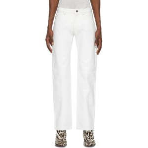Mowalola White Leather Suit Trousers