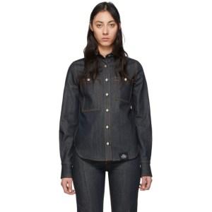 S.R. STUDIO. LA. CA. Indigo Denim Button Down Shirt