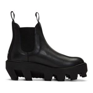 S.R. STUDIO. LA. CA. Black Therapist Slip-On Chelsea Boots