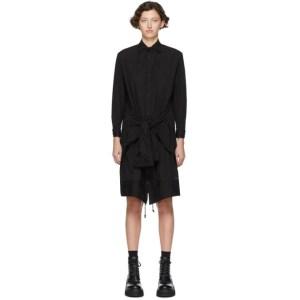 Regulation Yohji Yamamoto Black R-Up/Down Shirt Dress