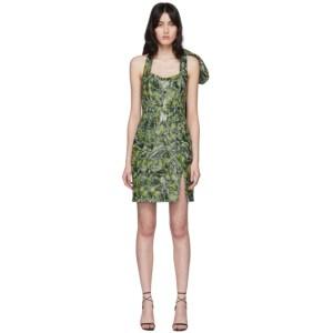 Halpern SSENSE Exclusive Green Bustier Dress