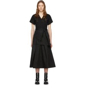 3.1 Phillip Lim Black Utility T-Shirt Dress