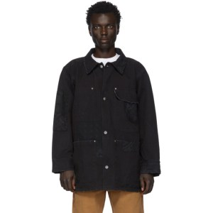 Vyner Articles Black Canvas Bandana Patches Worker Jacket